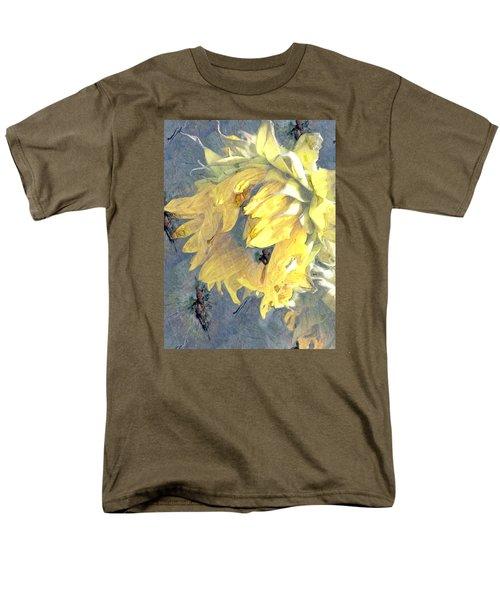 Yellow Fading Flower Men's T-Shirt  (Regular Fit) by Patricia Januszkiewicz