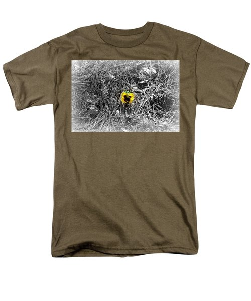 Men's T-Shirt  (Regular Fit) featuring the photograph Yellow Pansy by Tara Potts