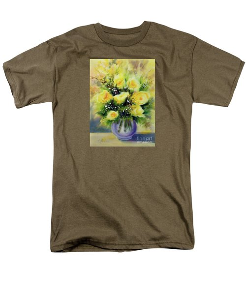 Yellow Roses Men's T-Shirt  (Regular Fit) by Kathy Braud