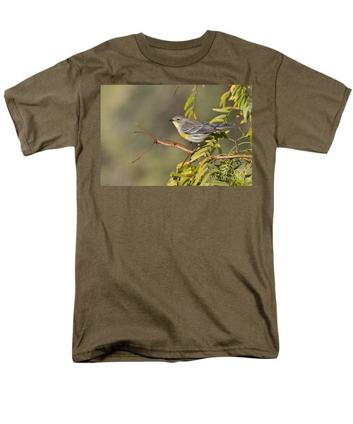 Yellow Rumped Warbler Men's T-Shirt  (Regular Fit) by Bryan Keil