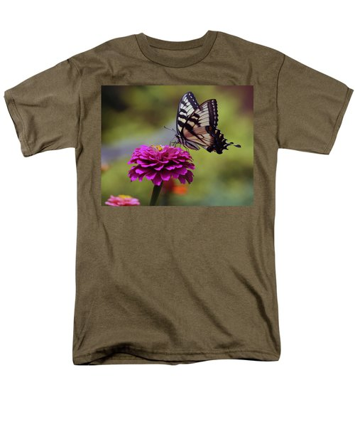 Yellow Tiger Swallowtail Butterfly Men's T-Shirt  (Regular Fit) by Kay Novy