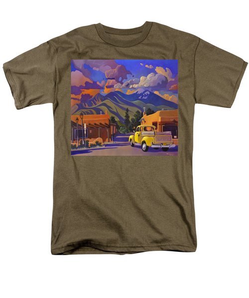 Men's T-Shirt  (Regular Fit) featuring the painting Yellow Truck by Art James West