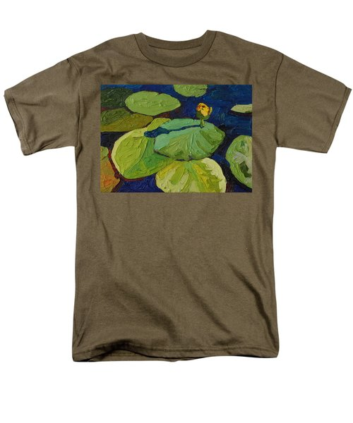 Yellow Waterlily Men's T-Shirt  (Regular Fit) by Phil Chadwick