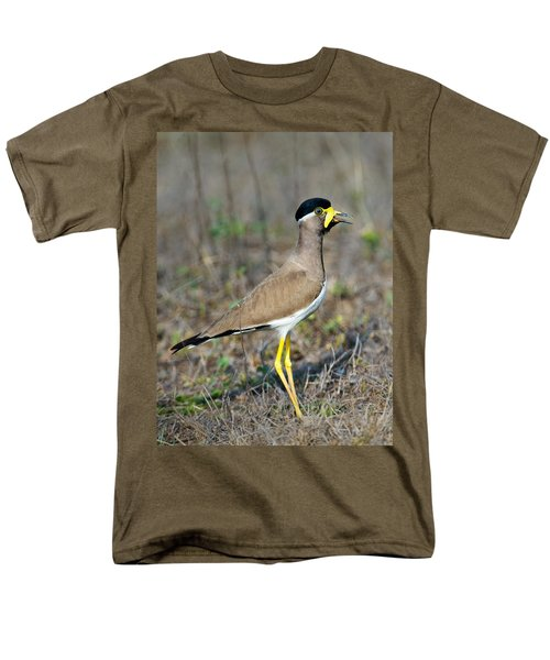 Yellow-wattled Lapwing Vanellus Men's T-Shirt  (Regular Fit) by Panoramic Images