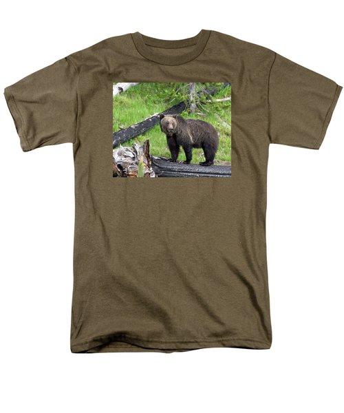 Yellowstone Grizzlies 2 Men's T-Shirt  (Regular Fit) by George Jones