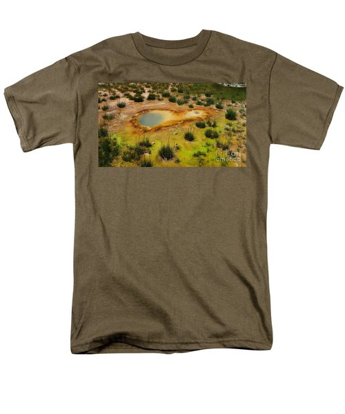 Yellowstone Hot Pool Men's T-Shirt  (Regular Fit) by Ausra Huntington nee Paulauskaite
