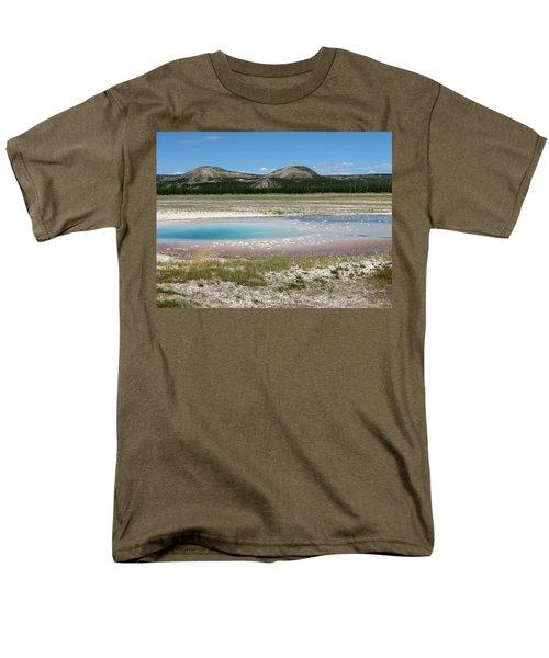 Yellowstone Landscape Men's T-Shirt  (Regular Fit) by Laurel Powell