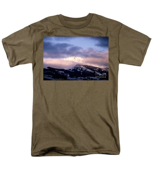 Men's T-Shirt  (Regular Fit) featuring the photograph Yellowstone Morning by Sharon Elliott