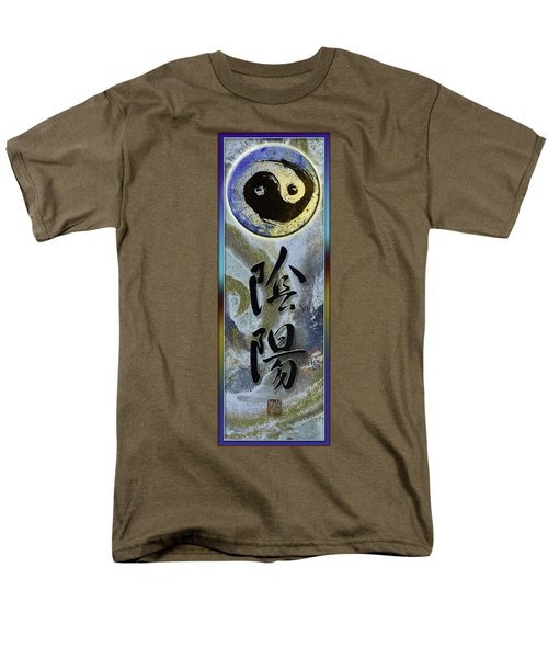 Yinyang Brush Calligraphy With Symbol Men's T-Shirt  (Regular Fit) by Peter v Quenter