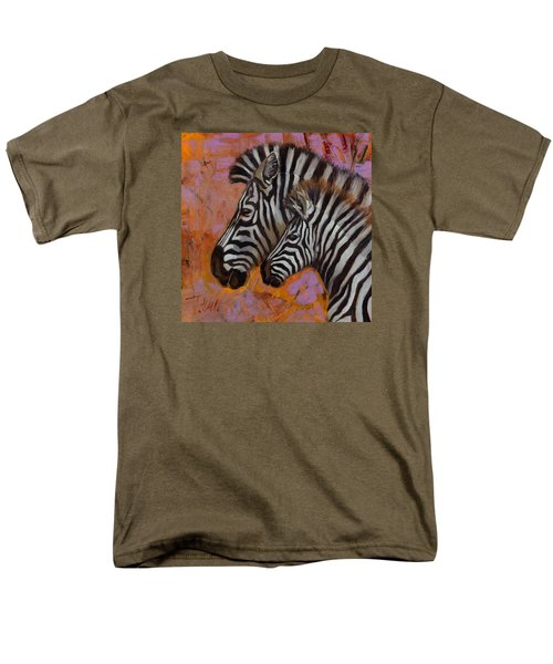 Men's T-Shirt  (Regular Fit) featuring the painting Yipes Stripes by Pattie Wall