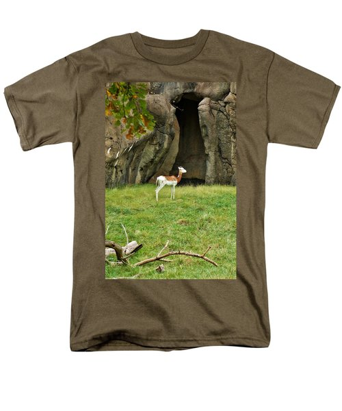 Men's T-Shirt  (Regular Fit) featuring the photograph Young Addra Gazelle by Jean Goodwin Brooks