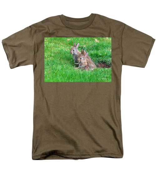 Men's T-Shirt  (Regular Fit) featuring the photograph Young Rabbits by Nick  Biemans