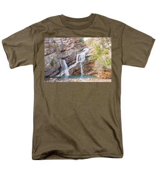 Men's T-Shirt  (Regular Fit) featuring the photograph Zigzag Waterfall by John M Bailey