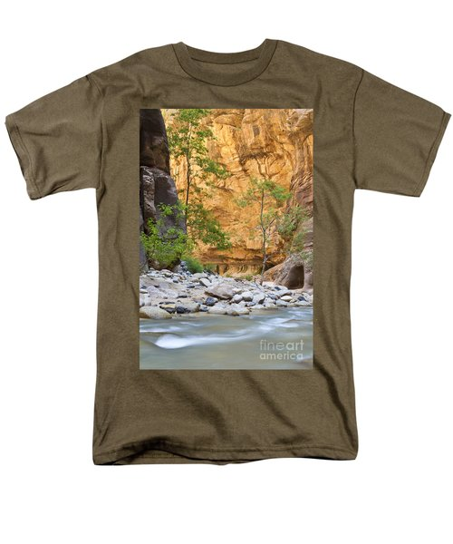 Men's T-Shirt  (Regular Fit) featuring the photograph Zion Narrows by Bryan Keil