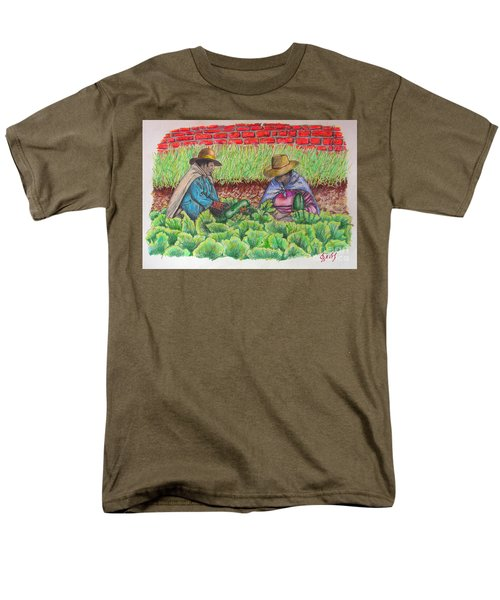 Zucchini In Peru Men's T-Shirt  (Regular Fit) by Lew Davis