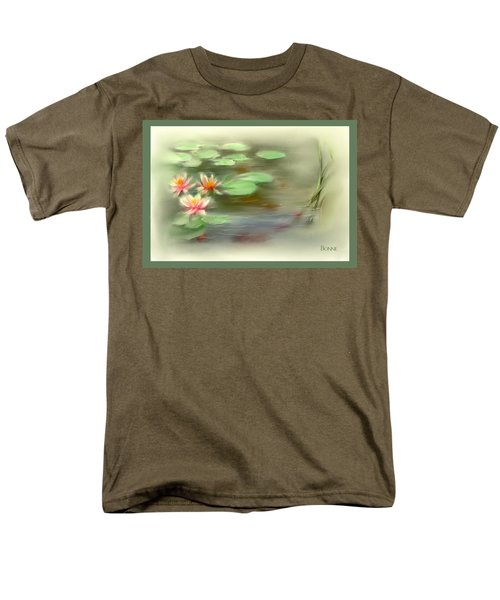 Men's T-Shirt  (Regular Fit) featuring the painting  Gold Fish Pond by Bonnie Willis
