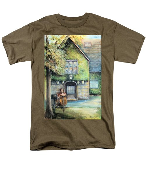 Men's T-Shirt  (Regular Fit) featuring the painting Bass Fiddle At Ford Gala I by Bernadette Krupa