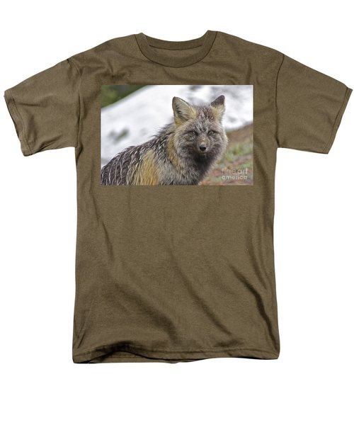 Men's T-Shirt  (Regular Fit) featuring the photograph Cascade Red Fox by Sean Griffin