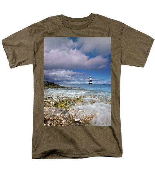 Men's T-Shirt  (Regular Fit) featuring the photograph Fishing By The Lighthouse by Beverly Cash