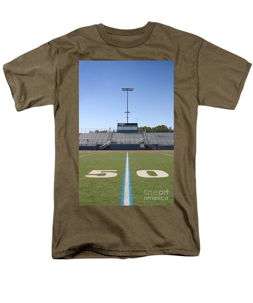 Men's T-Shirt  (Regular Fit) featuring the photograph Football Field Fifty by Henrik Lehnerer