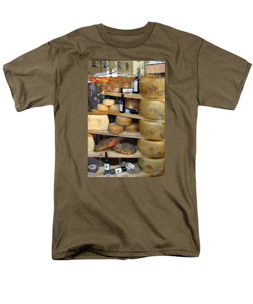 Men's T-Shirt  (Regular Fit) featuring the photograph Parmesan Rounds by Carla Parris