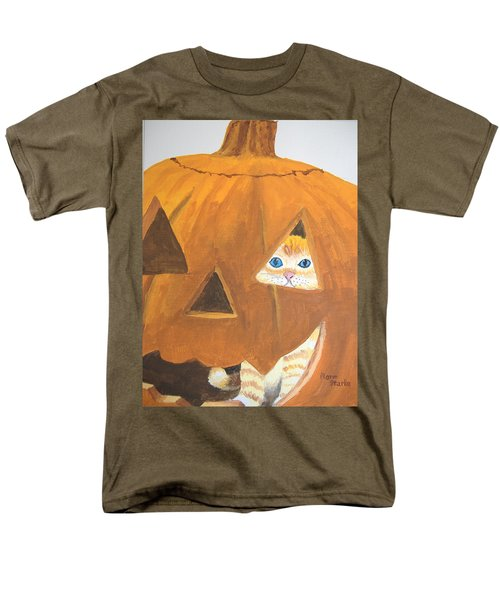 Men's T-Shirt  (Regular Fit) featuring the painting Peekaboo by Norm Starks