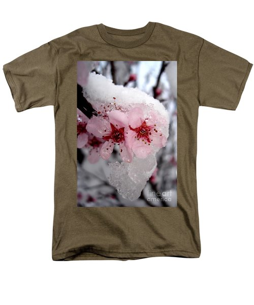 Men's T-Shirt  (Regular Fit) featuring the photograph Spring Blossom Icicle by Kerri Mortenson