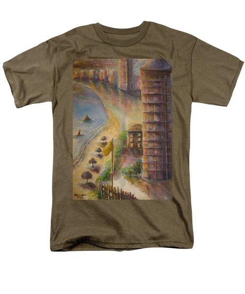 Men's T-Shirt  (Regular Fit) featuring the painting Sunset Beach by Bernadette Krupa