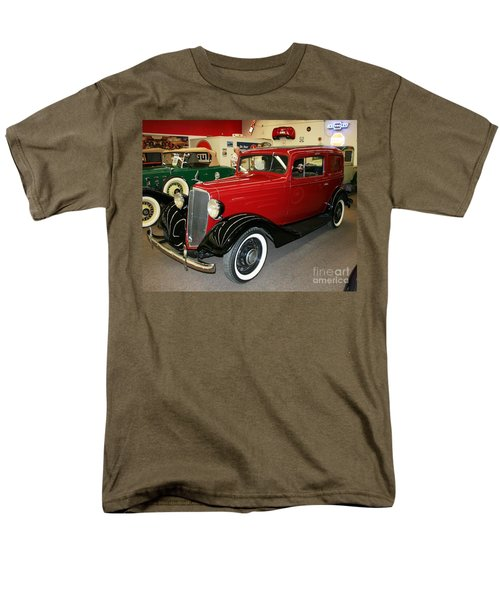 Men's T-Shirt  (Regular Fit) featuring the photograph 1930's Antique Chevrolet Sedan by John Black