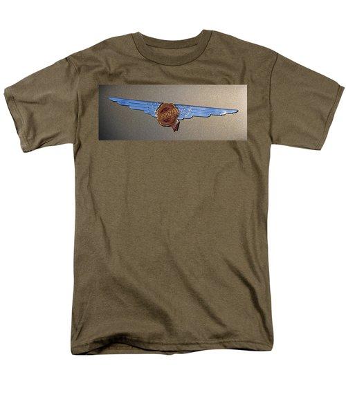 Men's T-Shirt  (Regular Fit) featuring the photograph 1937 Chrysler Airflow Emblem by Gordon Dean II