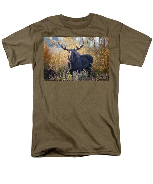 Bull Moose Men's T-Shirt  (Regular Fit) by Ronald Lutz