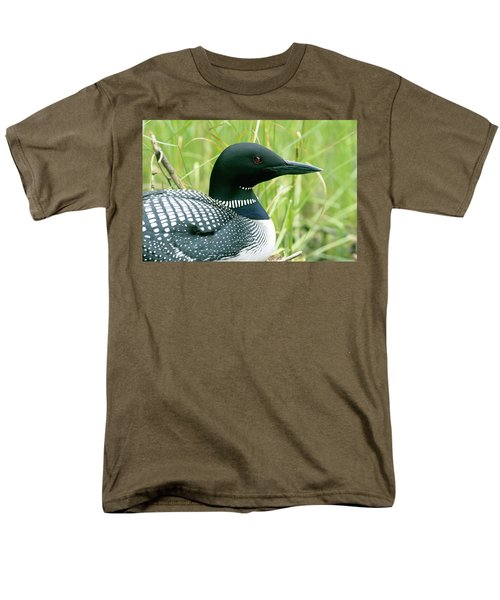 Common Loon, La Mauricie National Park Men's T-Shirt  (Regular Fit) by Philippe Henry
