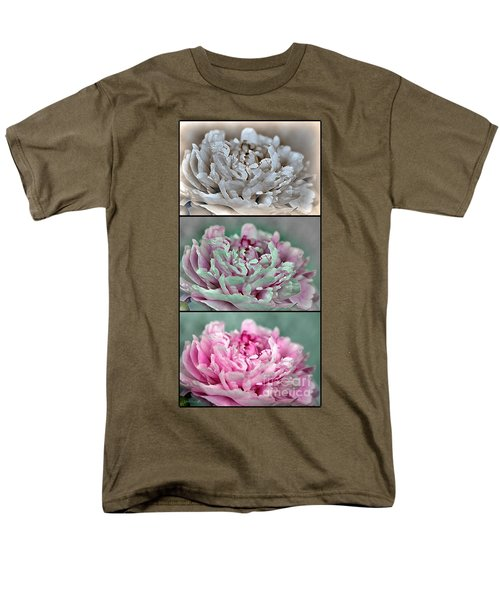Peony Named Shirley Temple Men's T-Shirt  (Regular Fit) by J McCombie