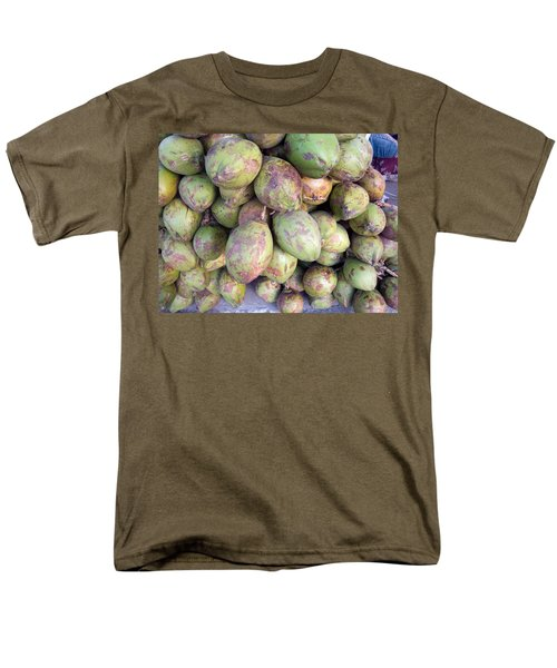 Men's T-Shirt  (Regular Fit) featuring the photograph A Number Of Tender Raw Coconuts In A Pile by Ashish Agarwal