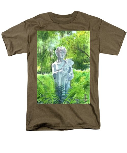 Men's T-Shirt  (Regular Fit) featuring the painting A Statue At The Wellers Carriage House -4 by Yoshiko Mishina