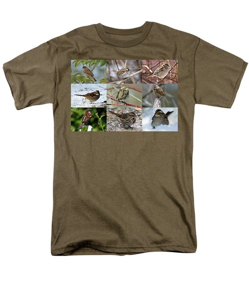 A Study In Sparrows Men's T-Shirt  (Regular Fit) by Joe Faherty