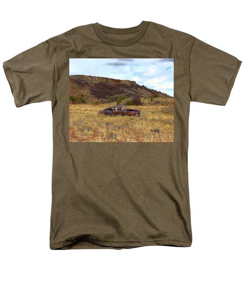 Men's T-Shirt  (Regular Fit) featuring the photograph Abandoned Car by Steve McKinzie