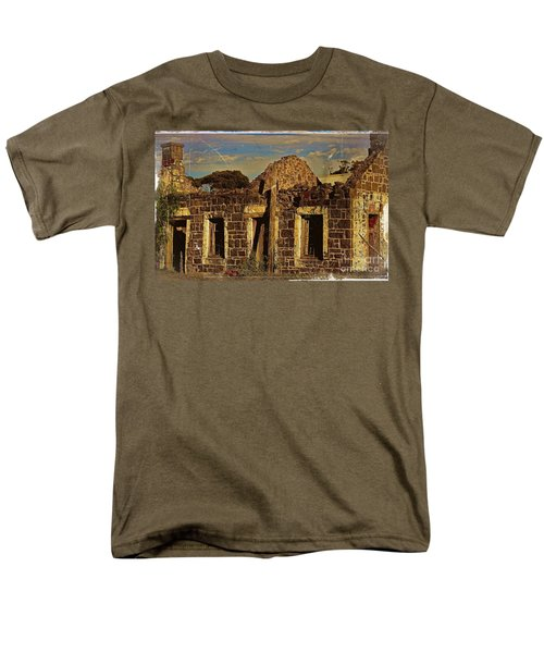 Men's T-Shirt  (Regular Fit) featuring the digital art Abandoned Farmhouse by Blair Stuart