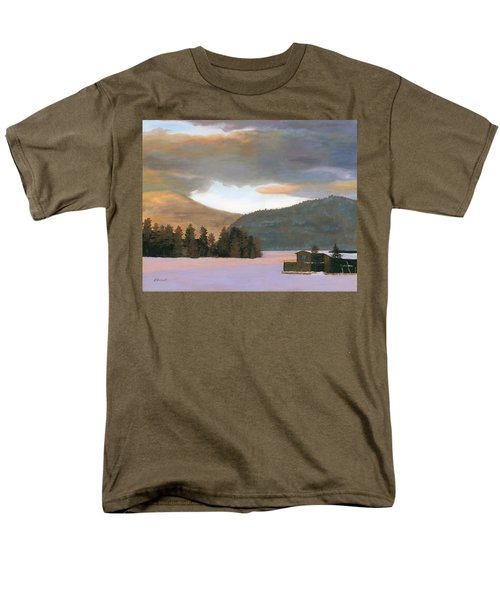 Adirondack Morning Men's T-Shirt  (Regular Fit) by Lynne Reichhart