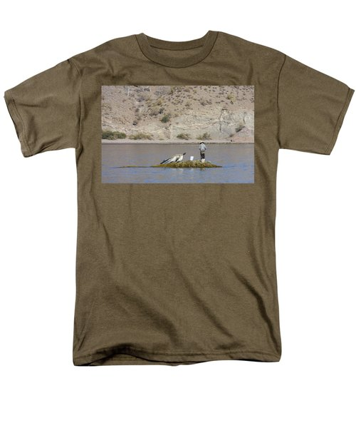 Men's T-Shirt  (Regular Fit) featuring the digital art Agua Verde Fisherman  by Anne Mott