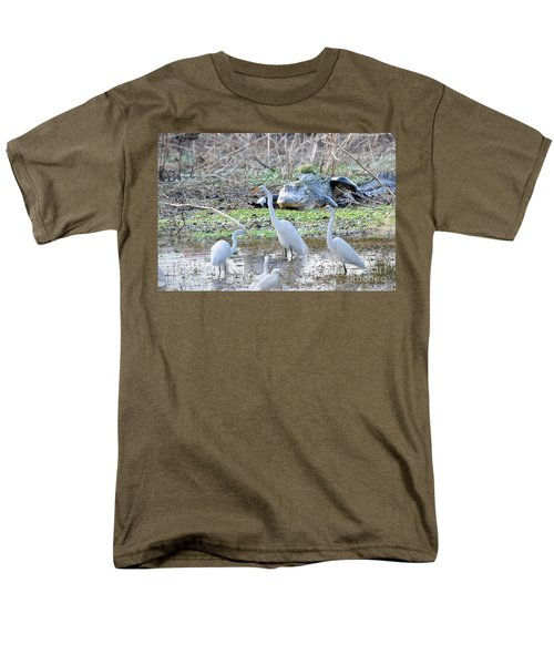 Men's T-Shirt  (Regular Fit) featuring the photograph Alligator Looking For Food by Dan Friend