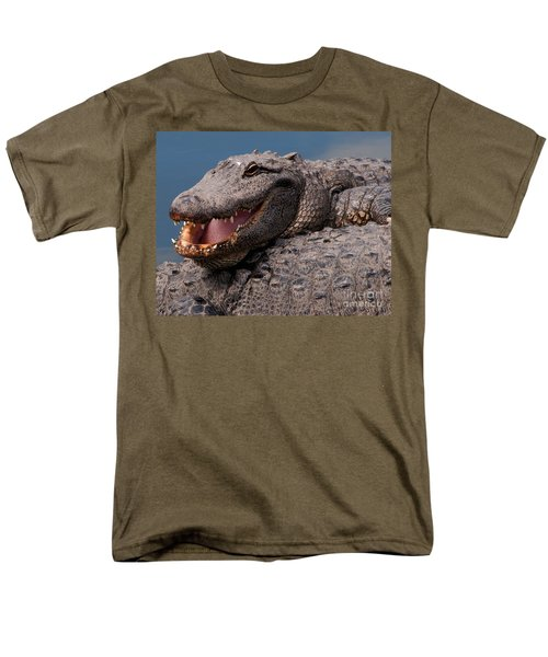Men's T-Shirt  (Regular Fit) featuring the photograph Alligator Smile by Art Whitton