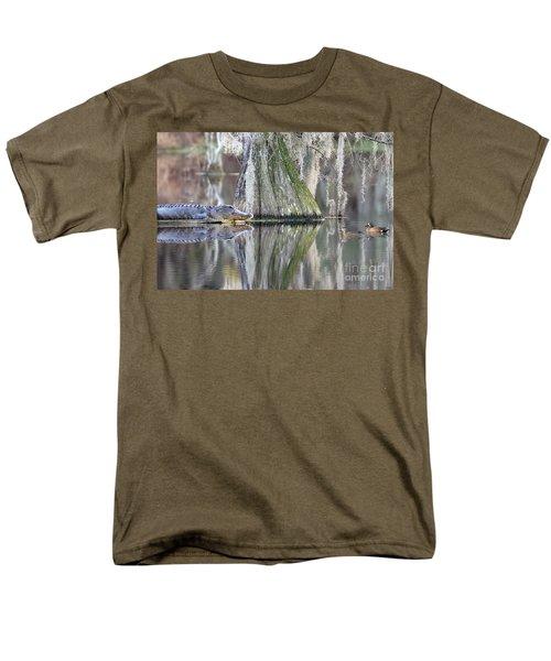 Men's T-Shirt  (Regular Fit) featuring the photograph Alligator Waiting For Dinner by Dan Friend