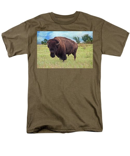 Men's T-Shirt  (Regular Fit) featuring the photograph American Bison by Tamyra Ayles