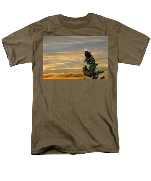 Men's T-Shirt  (Regular Fit) featuring the photograph American Eagle Sunset by Dan Friend