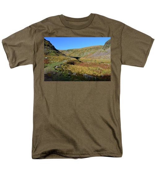 Annascaul Lake And Mountains Men's T-Shirt  (Regular Fit) by Barbara Walsh