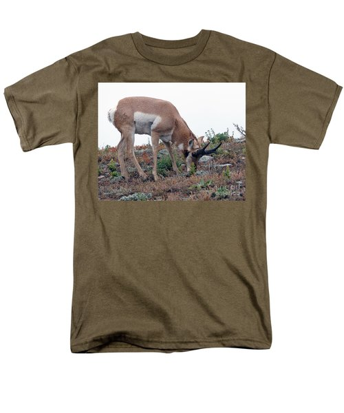 Men's T-Shirt  (Regular Fit) featuring the photograph Antelope Grazing by Art Whitton