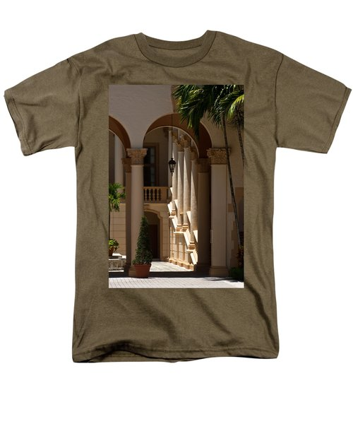 Men's T-Shirt  (Regular Fit) featuring the photograph Arches And Columns At The Biltmore Hotel by Ed Gleichman