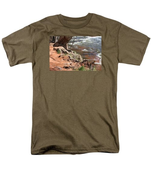 Men's T-Shirt  (Regular Fit) featuring the photograph Arizona Red Water by Debbie Hart
