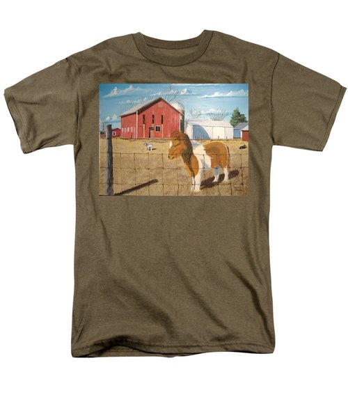 Men's T-Shirt  (Regular Fit) featuring the painting At Home by Norm Starks